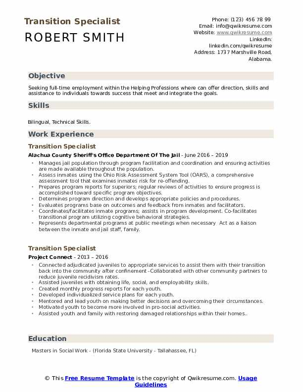 transition specialist resume samples qwikresume pdf shift manager job description for Resume Transition Resume Samples