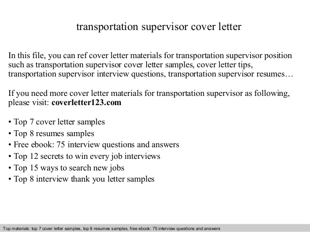 transportation supervisor cover letter resume example for hospital job lpn duties law Resume Transportation Supervisor Resume Example