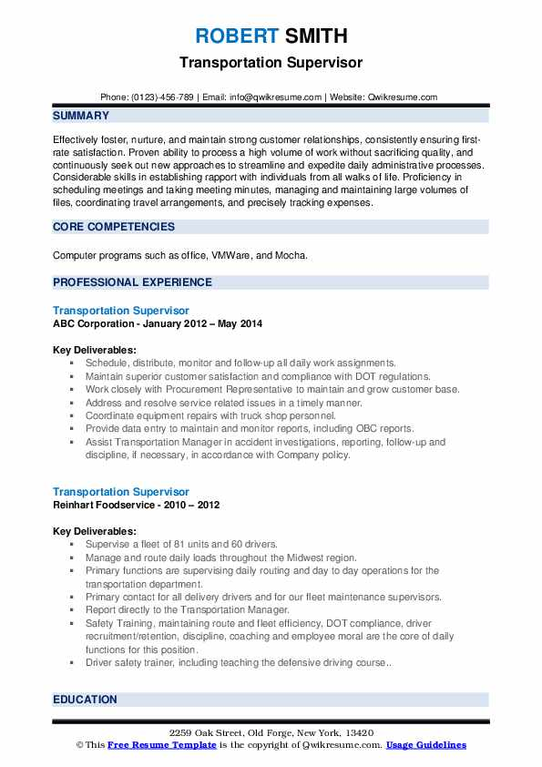 transportation supervisor resume samples qwikresume example pdf home duties machine shop Resume Transportation Supervisor Resume Example