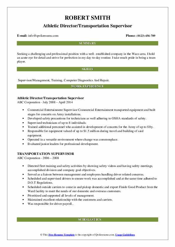 transportation supervisor resume samples qwikresume example pdf international trade Resume Transportation Supervisor Resume Example