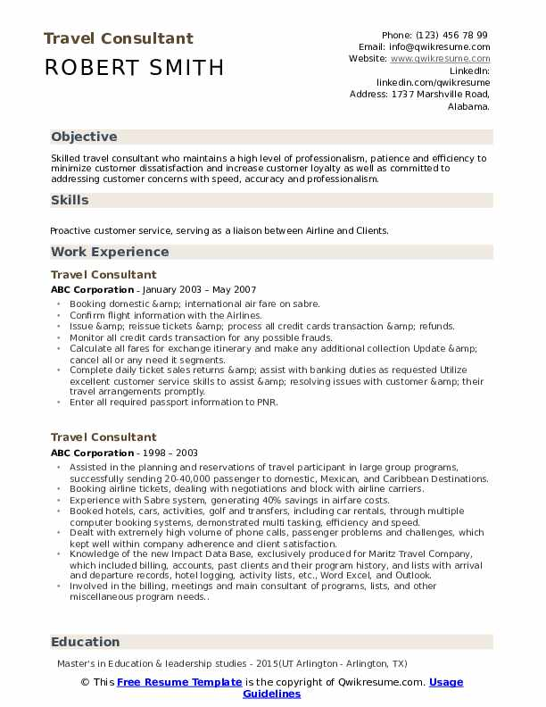 travel consultant resume samples qwikresume career objective quotes for pdf vba on error Resume Career Objective Quotes For Resume