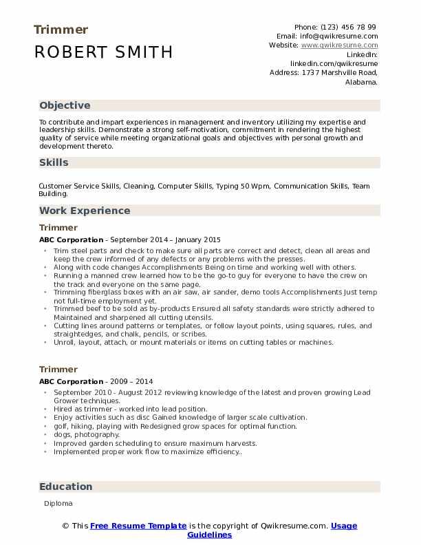 trimmer resume samples qwikresume dispensary manager pdf urban anagram for career summary Resume Dispensary Manager Resume