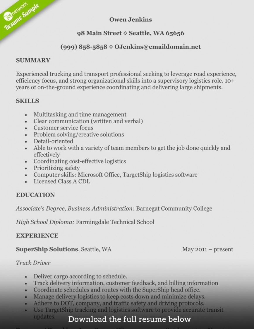 truck driver resume template addictionary word fascinating concept best format linkedin Resume Truck Driver Resume Template Word