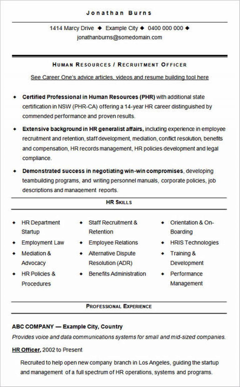 ultimate guide to writing your human resources resume sample templates hr template web Resume Human Resources Resume Template