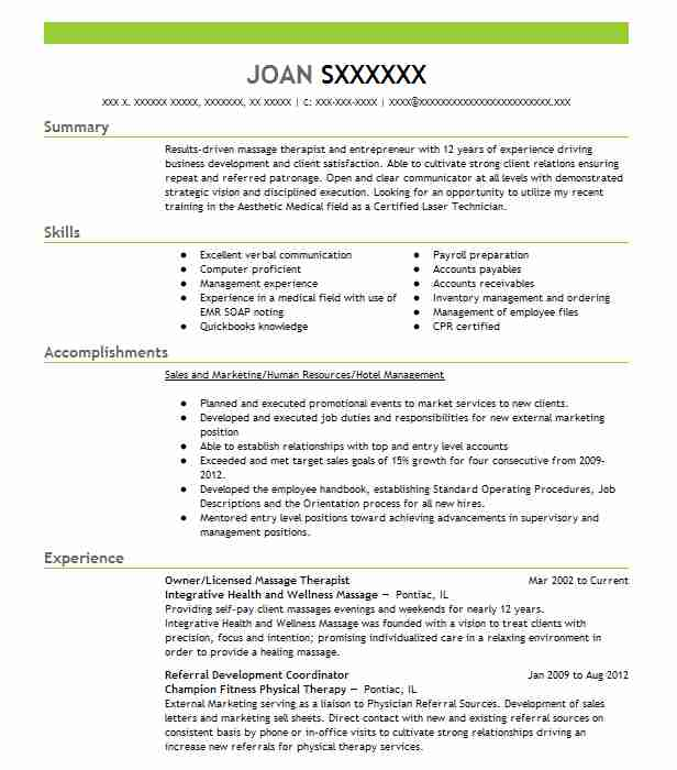 unforgettable massage therapist resume examples to stand out health unit coordinator Resume Massage Therapist Resume Examples