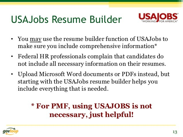 usajobs resume builder example or upload tips for prospective presidential management Resume Usajobs Resume Builder Or Upload