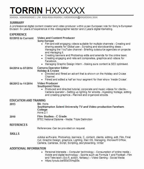 videographer resumes samples resume format template with administrative manager summary Resume Videographer Resume Template