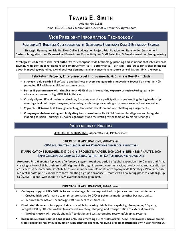 vp of it resume sample writing services executive vice president technology hackathon Resume Vice President Technology Resume