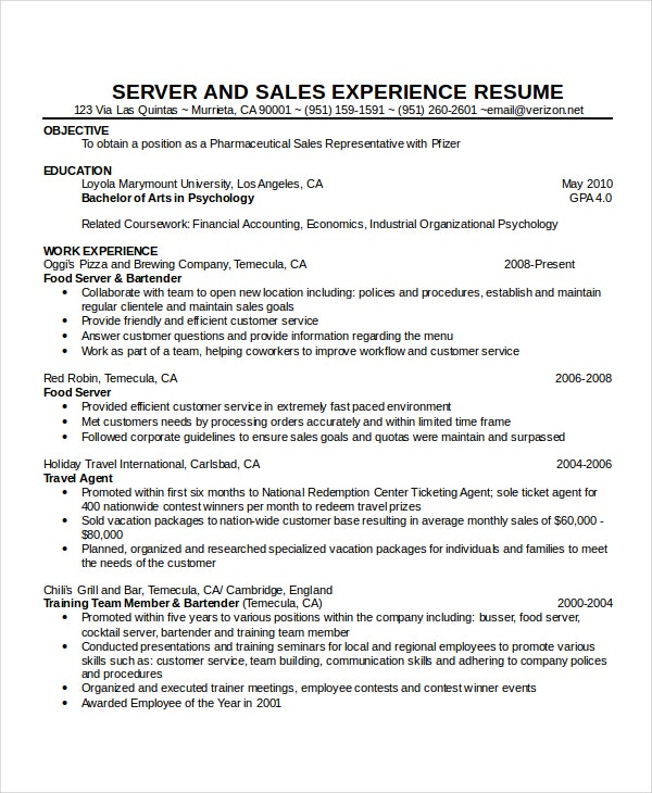 waitress resume template free word pdf document downloads premium templates cocktail Resume Cocktail Server Job Description Resume