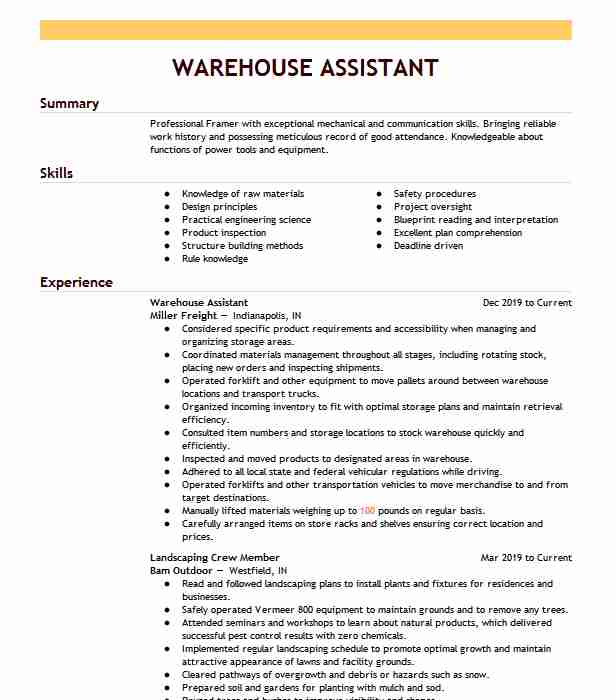 warehouse administrative assistant resume example linen tablecloth memphis bank Resume Warehouse Administrative Assistant Resume