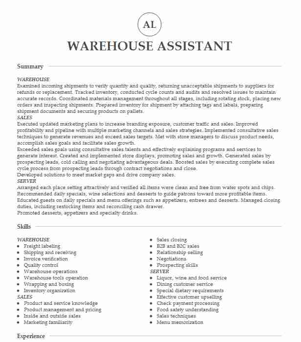 warehouse assistant examples resumes livecareer administrative resume center manager Resume Warehouse Administrative Assistant Resume