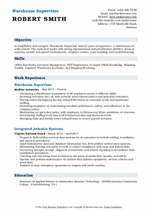 warehouse supervisor resume samples qwikresume for position pdf data science github chef Resume Resume For Warehouse Supervisor Position