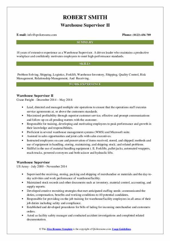 warehouse supervisor resume samples qwikresume for position pdf services san diego Resume Resume For Warehouse Supervisor Position