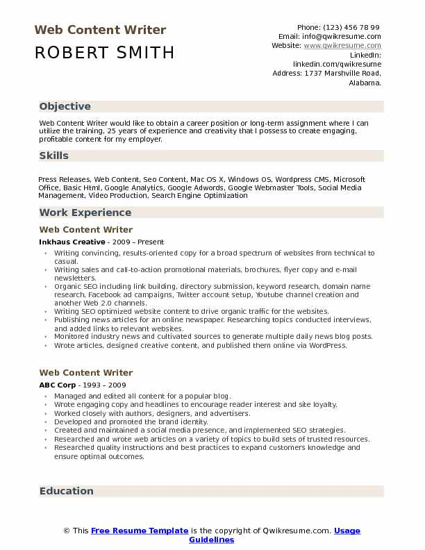 web content writer resume samples qwikresume pdf music for college applications template Resume Content Writer Resume Samples