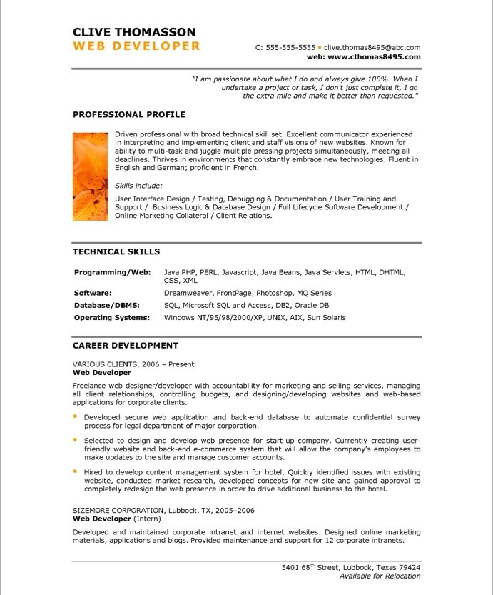 web developer free resume samples blue sky resumes example of 53after business strategy Resume Example Of Web Developer Resume