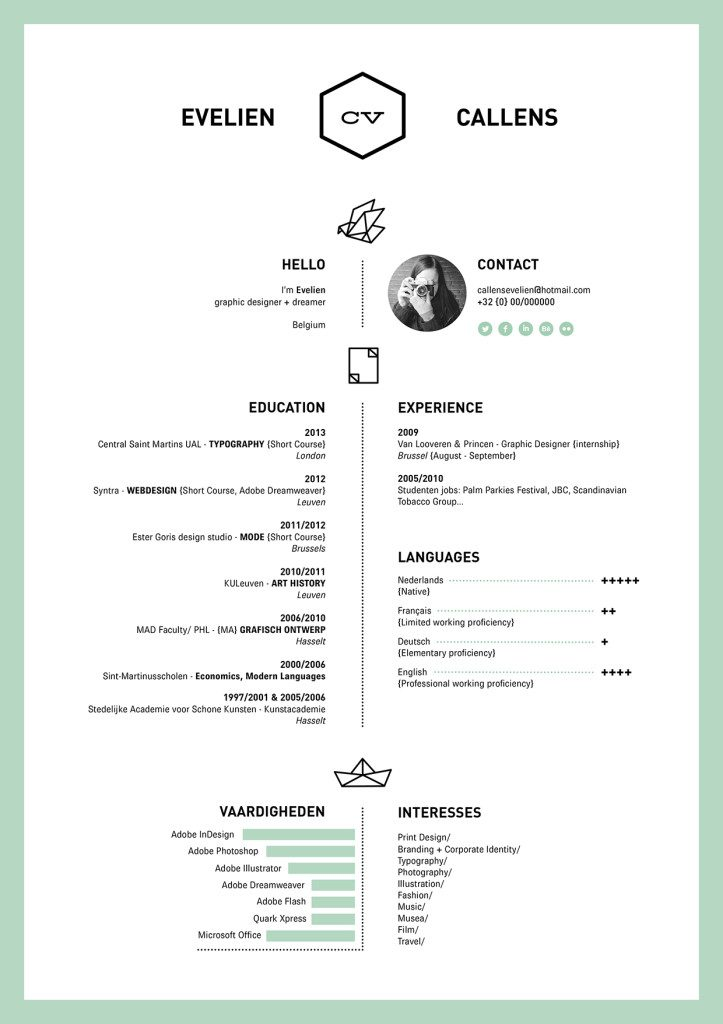 well designed resume examples for your inspiration visually attractive evelien 723x1024 Resume Visually Attractive Resume