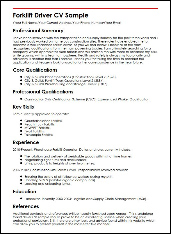 with forklift resume samples format warehouse cna objective statement lying about high Resume Warehouse Forklift Resume Samples