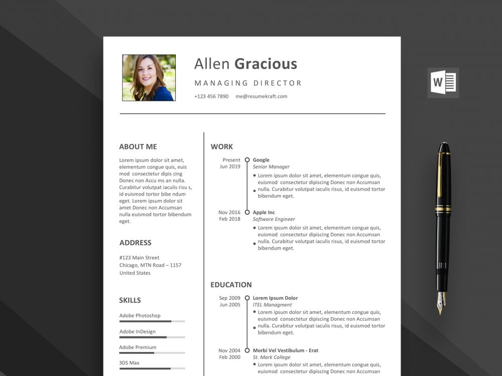 word resume template free daily mockup 1000x750 uvic entry level digital marketing Resume Free Template Resume 2020