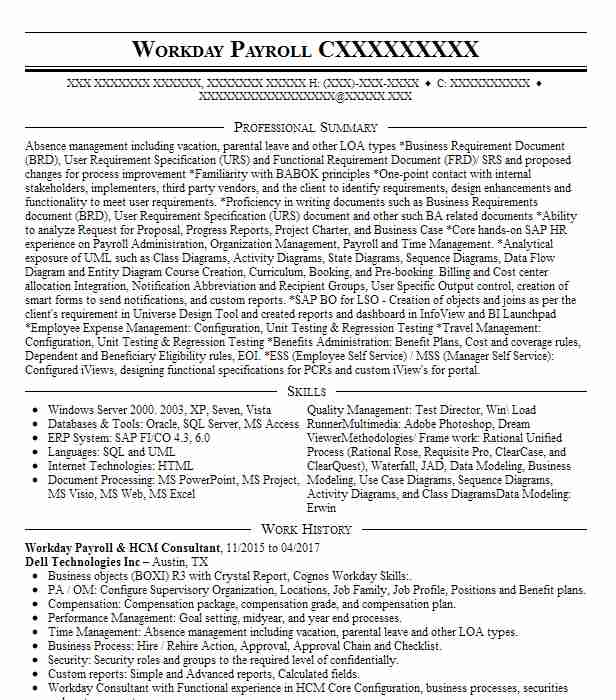 workday hcm consultant resume example accenture north carolina empire for summer Resume Workday Consultant Resume