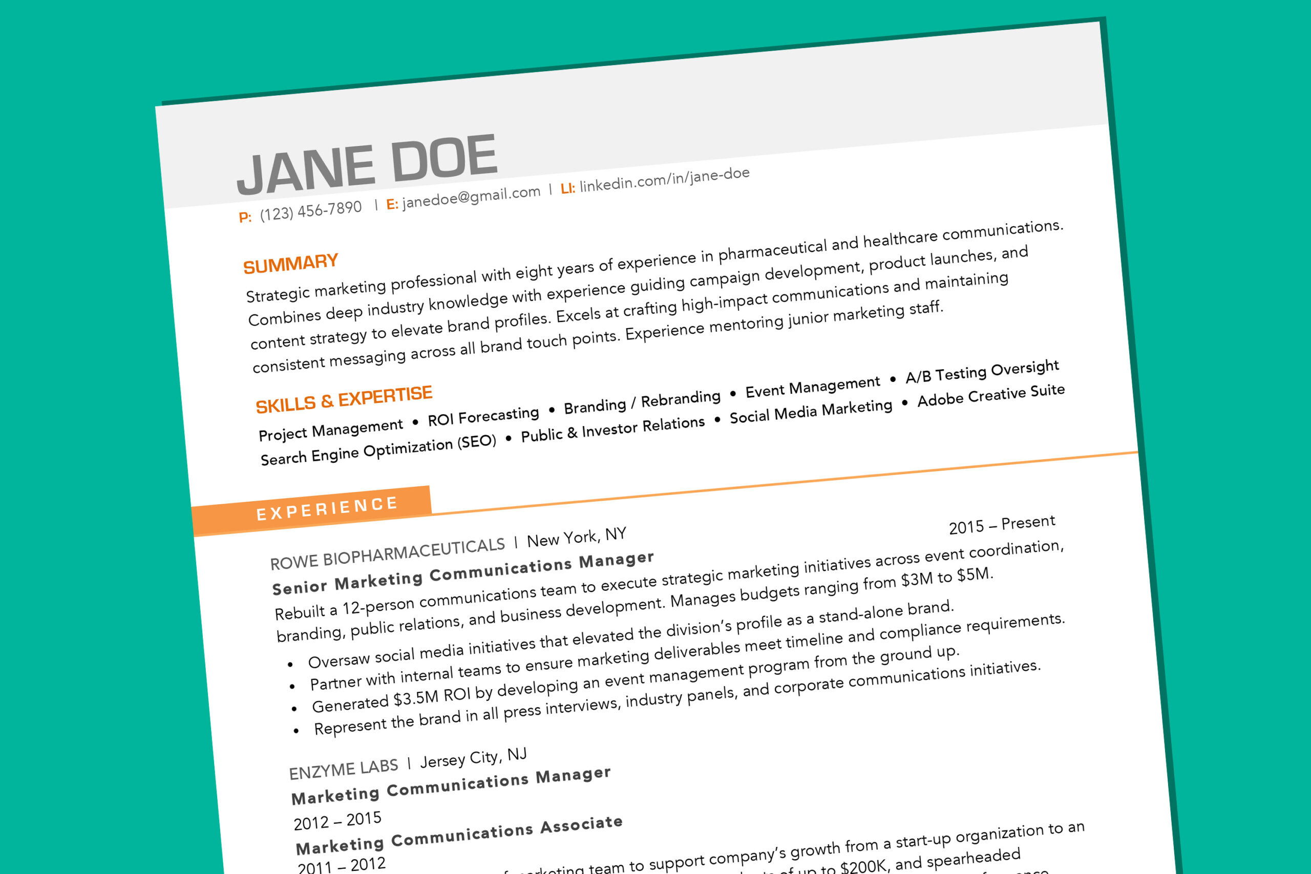 your resume should look like in money use template big brother sister volunteer creative Resume Should I Use A Resume Template