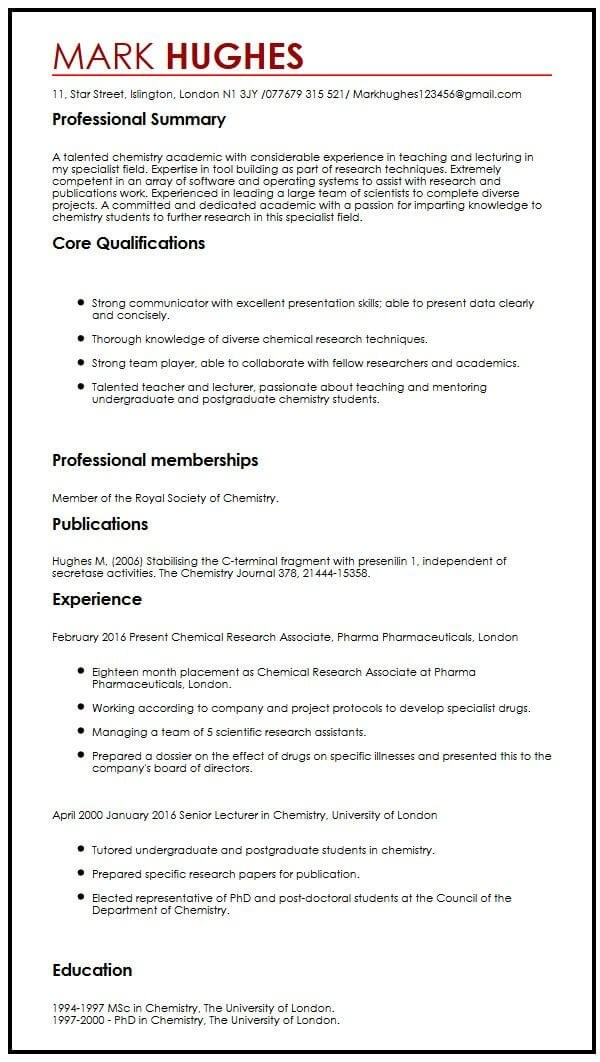 academic lecturer cv template best resume examples experience with publications Resume Lecturer Experience Resume