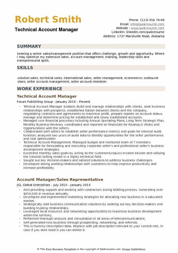 account manager resume samples qwikresume example pdf performance template blockchain Resume Account Manager Resume Example