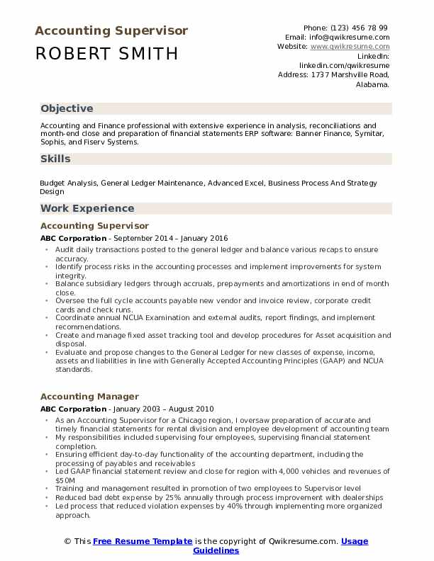 accounting supervisor resume samples qwikresume objective statements for pdf food service Resume Resume Objective Statements For Accounting
