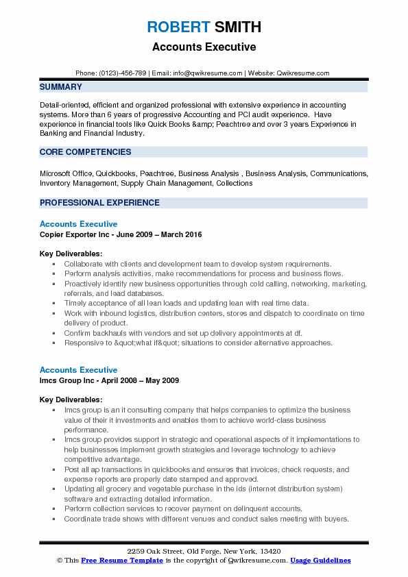 accounts executive resume samples qwikresume format for free pdf ux researcher network Resume Resume Format For Accounts Executive Free Download
