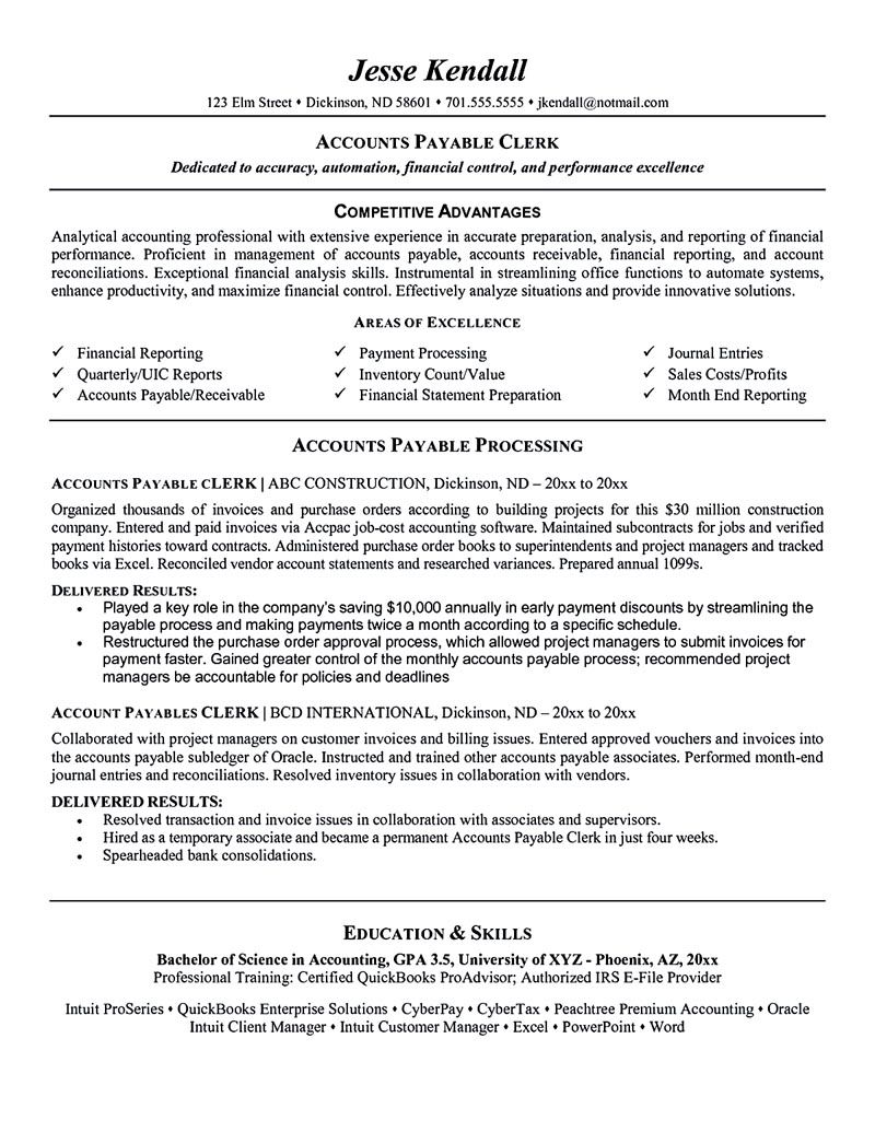 accounts payable manager resume sample for objective examples job samples linkedin the Resume Accounts Payable Resume Sample
