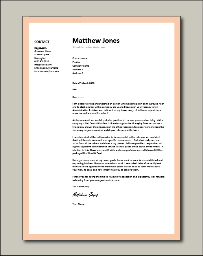 administrative assistant resume template free templates cover letter example or Resume Free Administrative Assistant Resume Templates