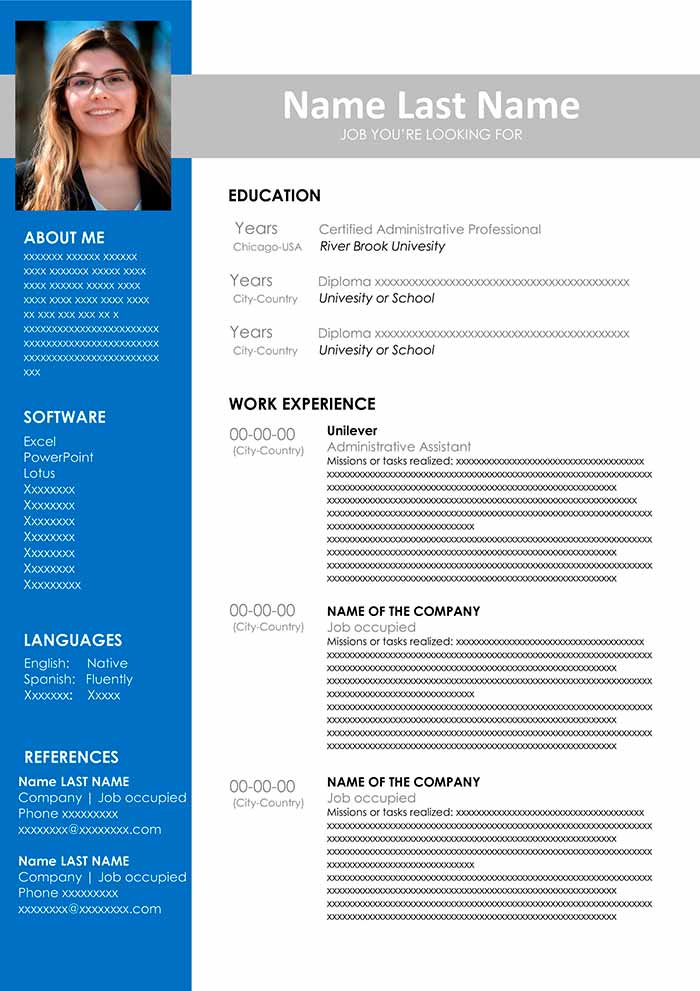administrative assistant resume template free templates email symbol for or curriculum Resume Free Administrative Assistant Resume Templates