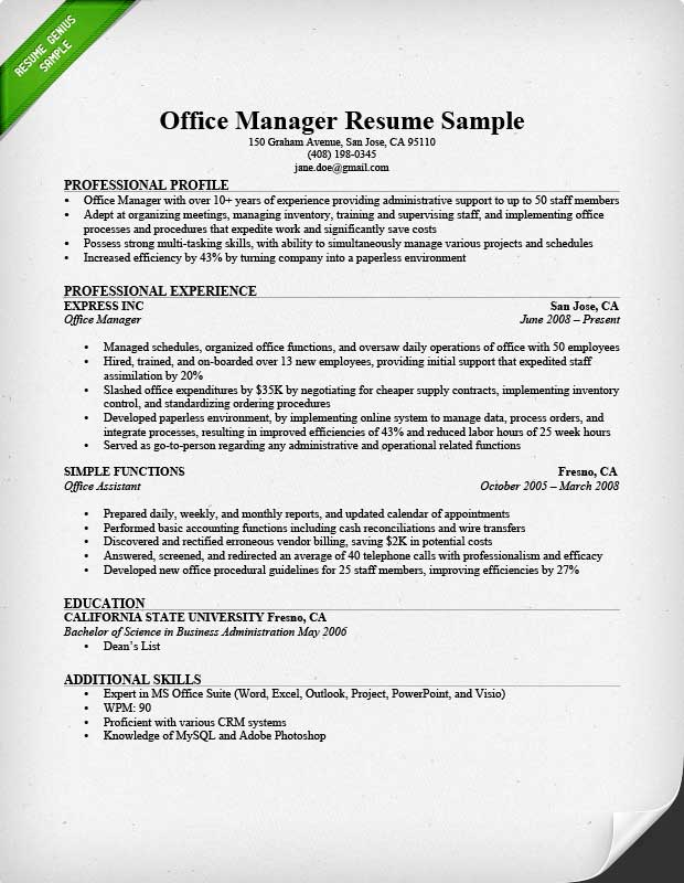 administrative manager resume sample admin examples office esthetics instructor free Resume Admin Manager Resume Examples