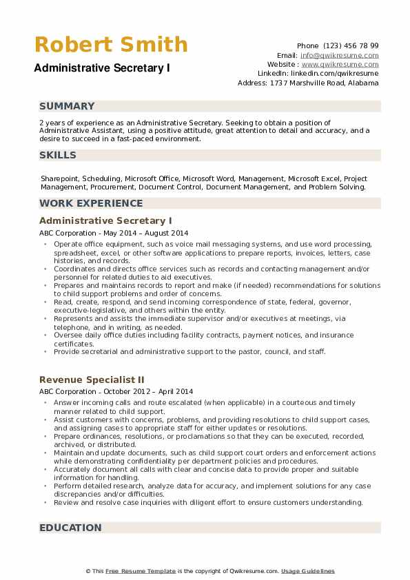 administrative secretary resume samples qwikresume skills pdf professional language bank Resume Secretary Resume Skills