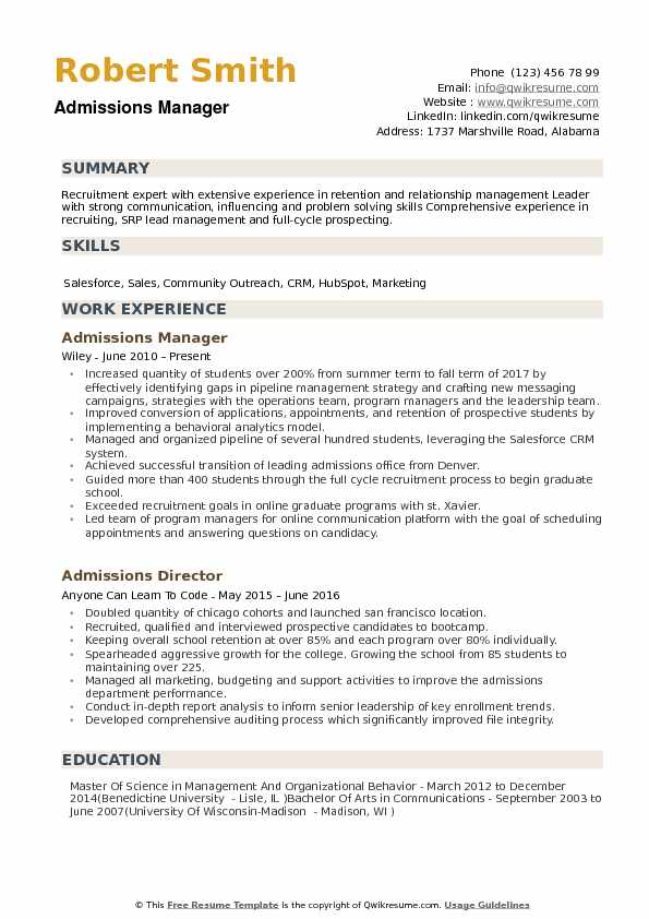 admissions manager resume samples qwikresume mba admission examples pdf contact details Resume Mba Admission Resume Examples