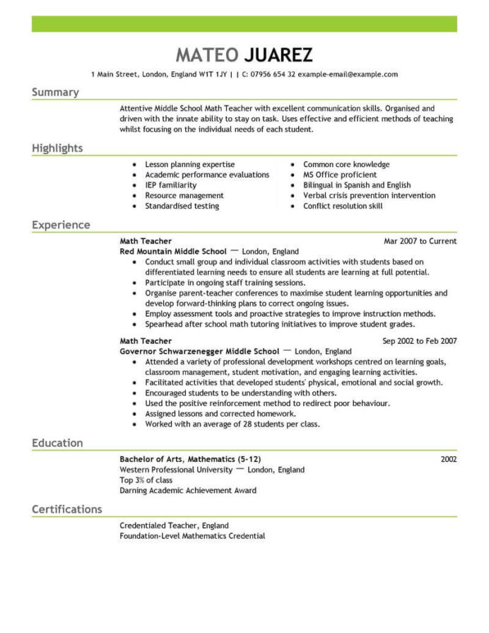 amazing education resume examples livecareer section teacher emphasis receptionist duties Resume Resume Education Section Examples