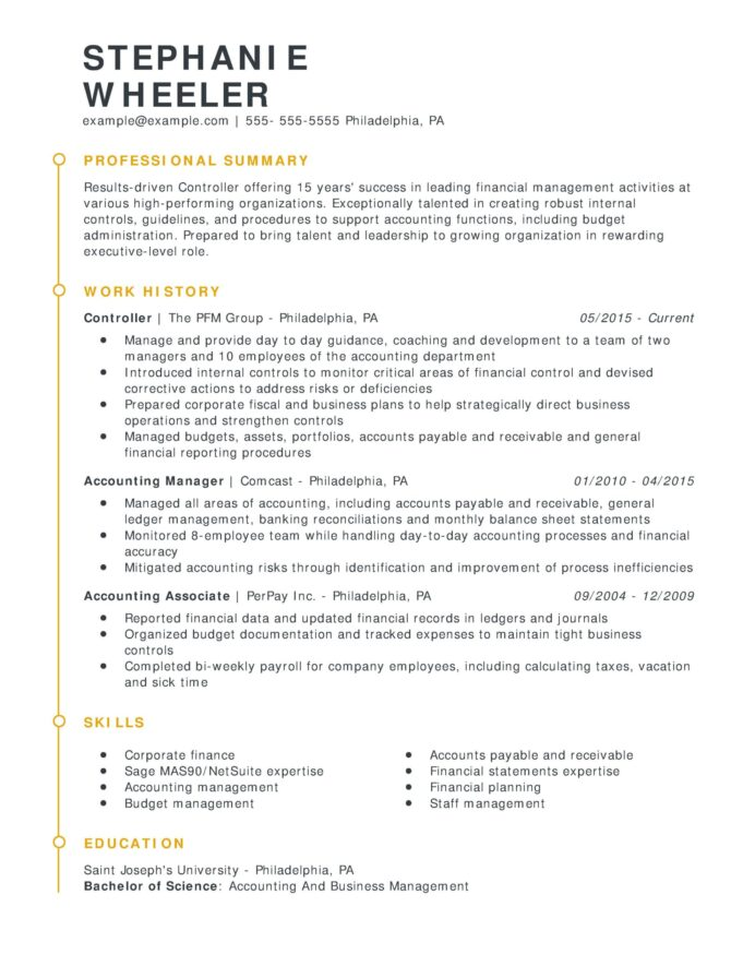 amazing finance resume examples livecareer entry level controller esteemed chrono scaled Resume Entry Level Finance Resume