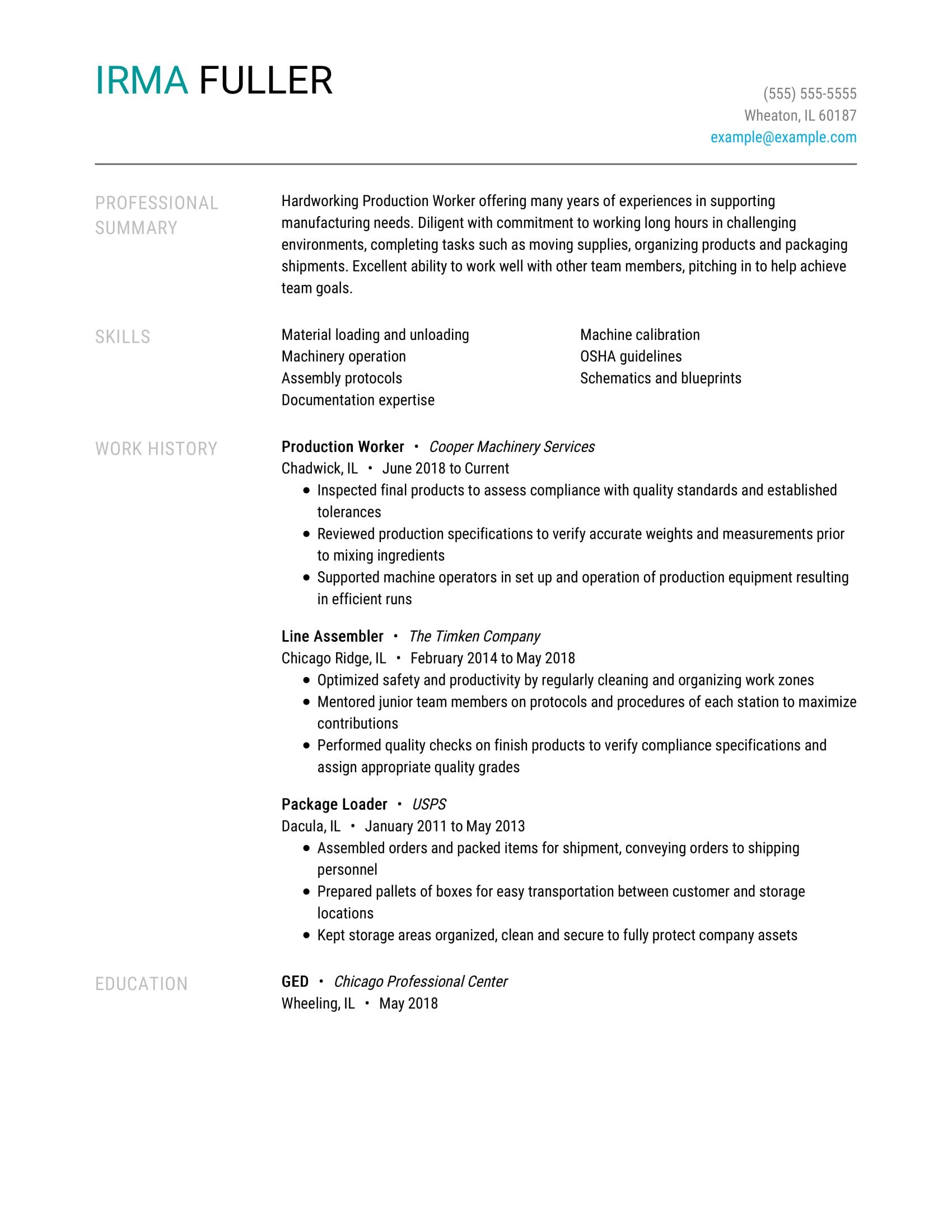 amazing production resume examples livecareer company description worker coaching Resume Resume Company Description Examples