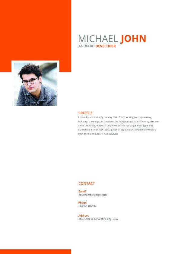 android developer resume templates free samples examples format premium for template Resume Free Resume Templates For Android