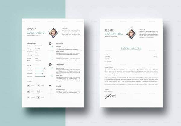 android developer resume templates free word excel pdf format premium for modern template Resume Free Resume Templates For Android