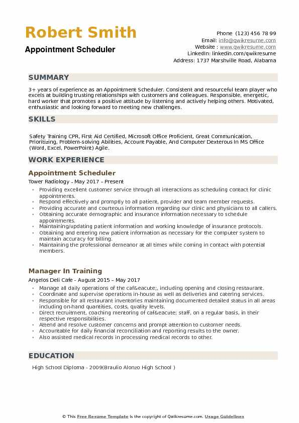 appointment scheduler resume samples qwikresume employee scheduling pdf business Resume Employee Scheduling Resume