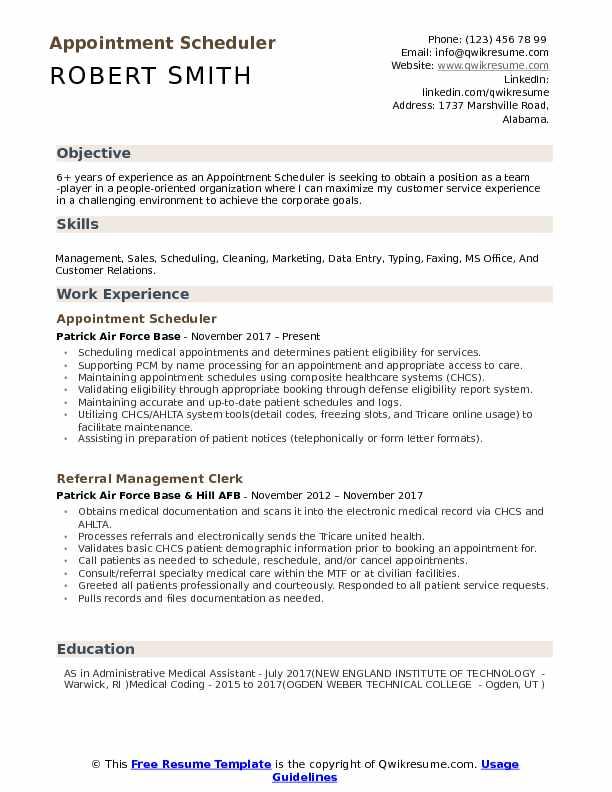 appointment scheduler resume samples qwikresume employee scheduling pdf entry level Resume Employee Scheduling Resume