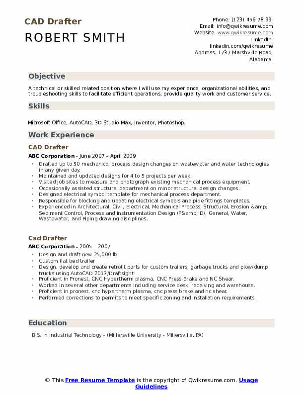 architectural draftsman resume autocad technician drafter pdf event manager sample Resume Autocad Technician Resume