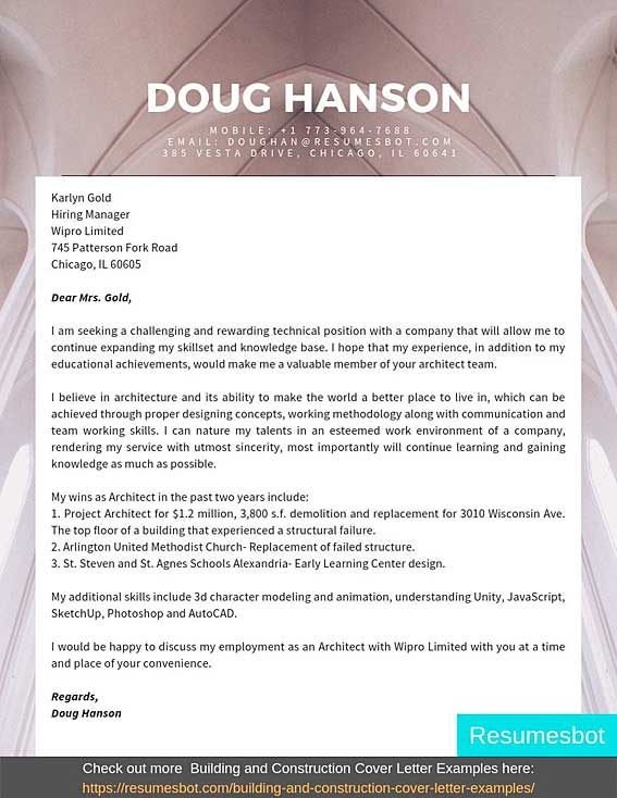 architecture cover letter samples templates pdf word letters rb sample ministry resume Resume Sample Ministry Resume And Cover Letter