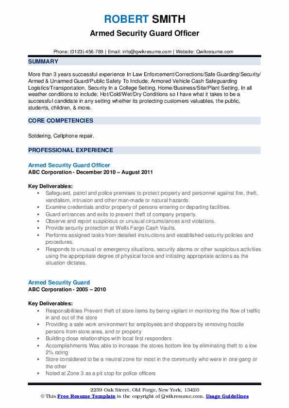 armed security guard resume samples qwikresume pdf checklist for writing deli manager Resume Armed Security Guard Resume