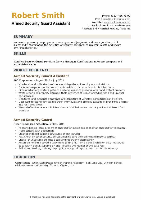 armed security guard resume samples qwikresume pdf for non graduate attention public Resume Armed Security Guard Resume