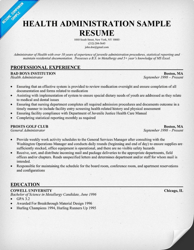 assistant personnel officer resume resumecompanion health administration cute766 Resume Healthcare Administration Resume Examples