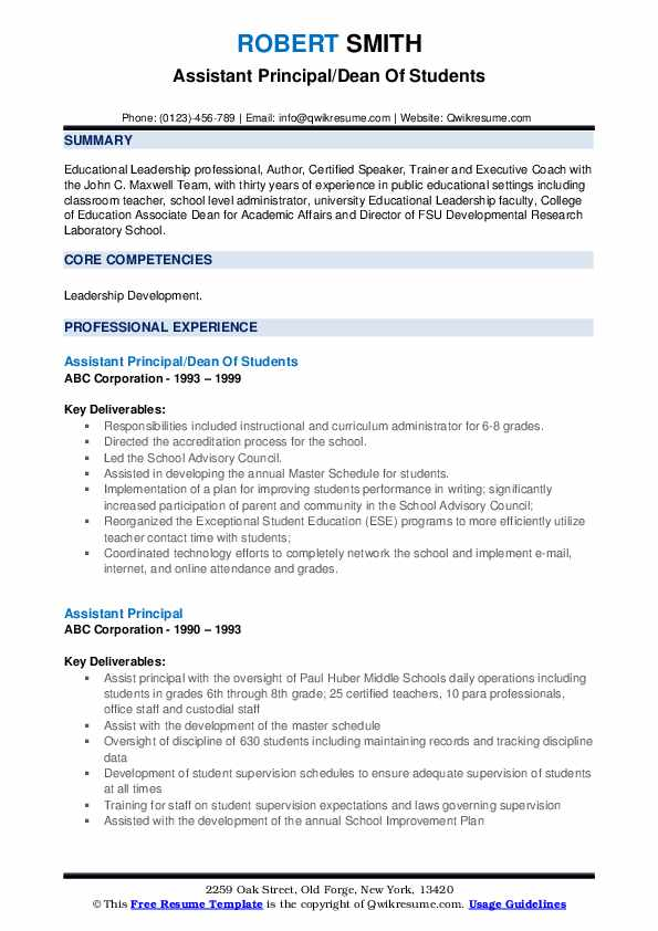 assistant principal resume samples qwikresume objective examples pdf jcpenney audit Resume Principal Resume Objective Examples