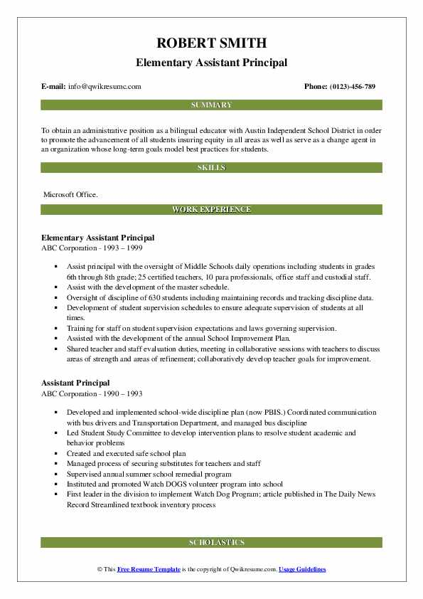 assistant principal resume samples qwikresume objective examples pdf medical job with Resume Principal Resume Objective Examples