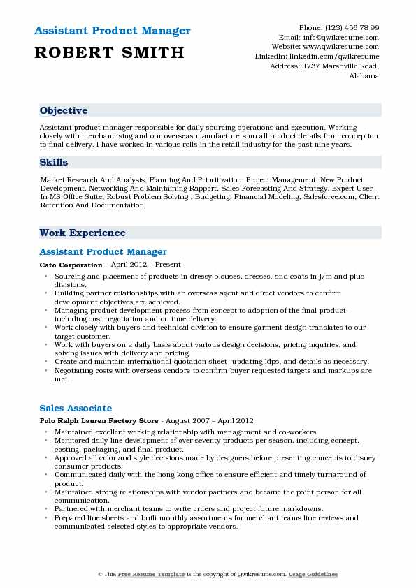 assistant product manager resume samples qwikresume telecom pdf robin ryan examples cable Resume Telecom Product Manager Resume