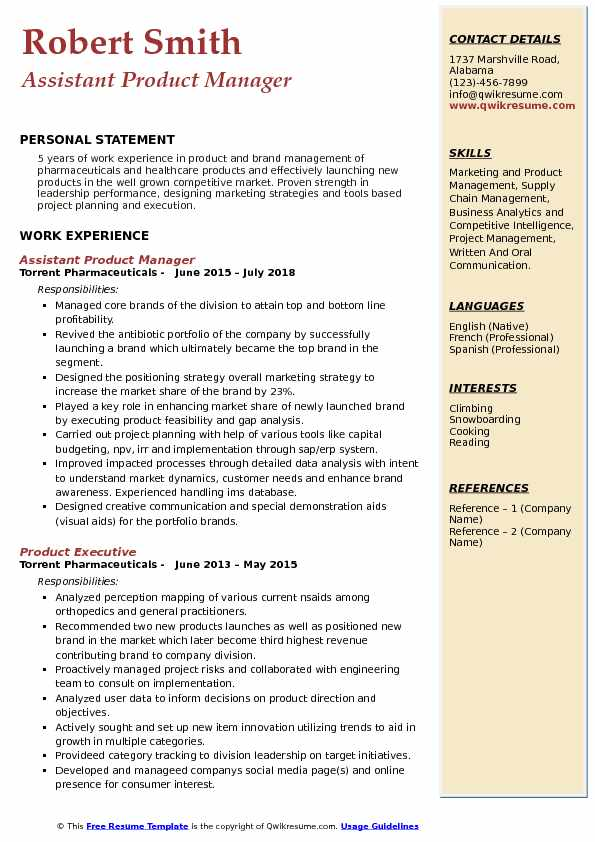 assistant product manager resume samples qwikresume telecom pdf social media examples Resume Telecom Product Manager Resume